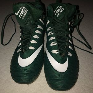 Nike Force Savage Green Football Cleats size 15